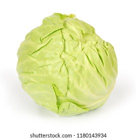 Cabbage isolated on white background with clipping path. Full depth of field.
