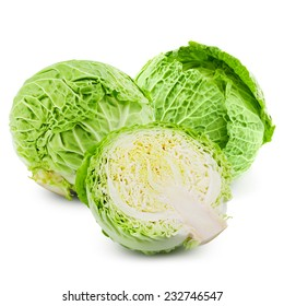 cabbage isolated on white background