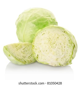 Cabbage isolated on white background, clipping path included