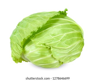 Cabbage isolated on white with clipping path