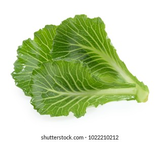 Cabbage leaves isolated on white