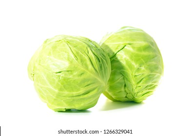 Cabbage on white background