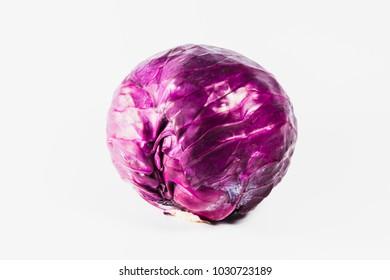 cabbage on white isolated background.