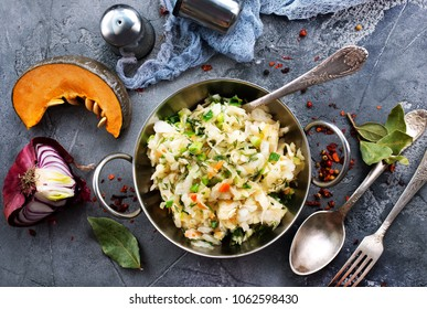 Cabbage salad. cabbage salad with sweet carrot in bowl
