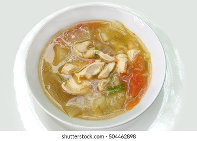 Cabbage soup with chicken