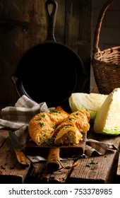 Cabbage strudel.selective focus. style rustic