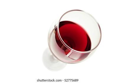 Cabernet sauvignon, focused on the edge of the glass.