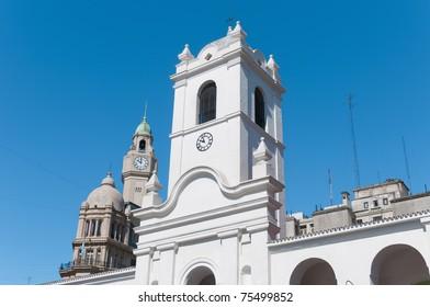 Cabildo building facade as seen from Plaza de Mayo