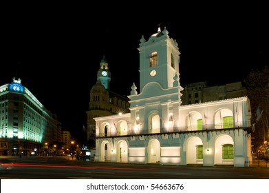 Cabildo, old colonial building in Plaza de Mayo, Buenos Aires, Argentina.