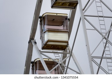 Cabin of a big wheel in the air
