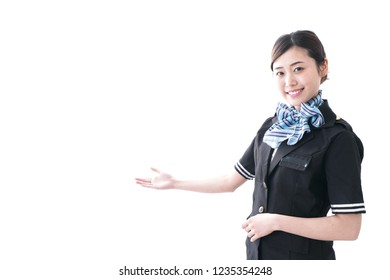 Cabin crew in the aircraft