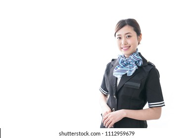 Cabin crew with smile