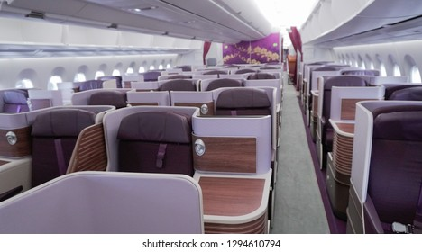 cabin interior in new modle aircraft look luxury