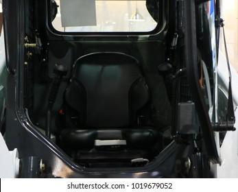 Cabin. Loader. Forklift. Lift truck.