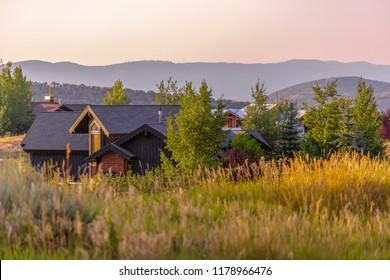 Cabin luxury homes in Park City Utah