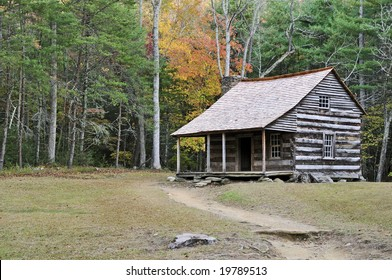 A cabin in the mountains of tennessee.