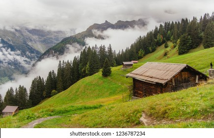 Cabin on the mountainside