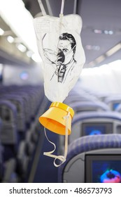cabin oxygen mask drop from the cabin ceiling
