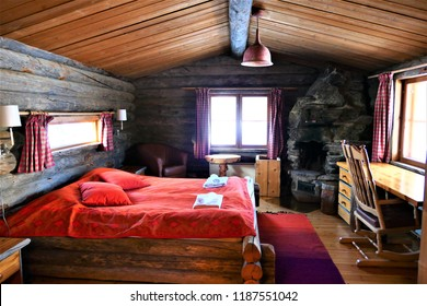 The cabin room atmosphere at Lapland Finland