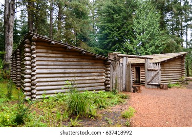Cabin and Shed at Lewis and Clark National and State Historical Parks