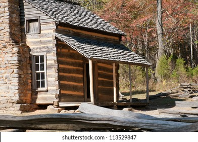 A cabin in the Smoky Mountains of Tennessee.