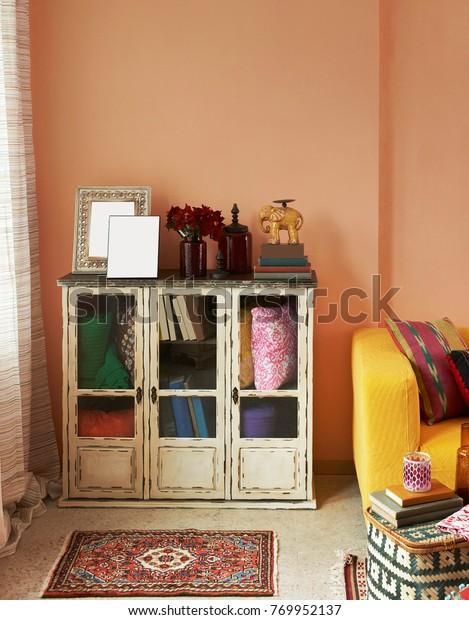 Cabinet Cupboard Corner Living Room Stock Photo (Edit Now ...