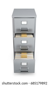 Cabinet with documents. 3d illustration