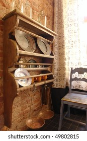 cabinet for tableware in kitchen