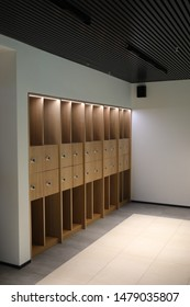 Cabinets in the business hall