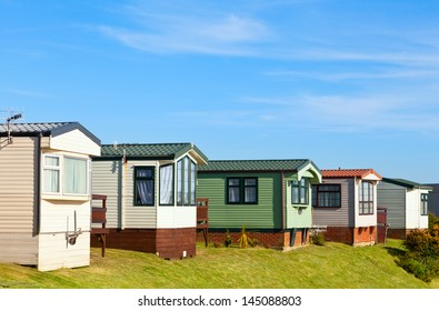 Cabins at holiday park in England