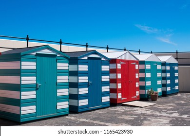 cabins on the beach north berwick is a seaside town and former royal burgh in east lothian scotland united kingdom europe