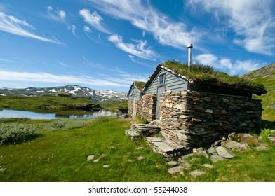 Cabins on the Hardangervidda