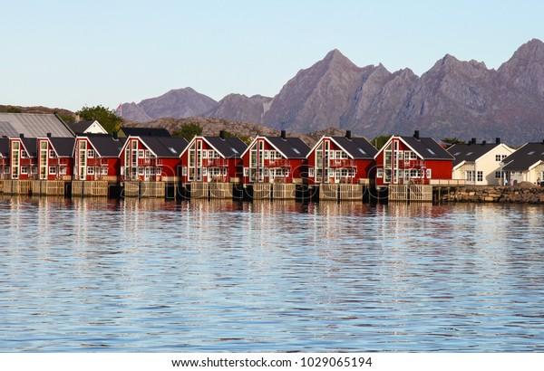 Cabins Rent Lofoten Islands Norway Stock Photo Edit Now