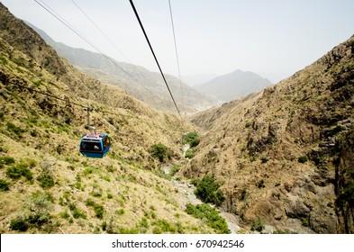 Cable car in Abha city south Saudi Arabia (Alsoda Highlands)