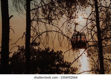 Cable car Alanya, Sunset cable car, sunset Alanya