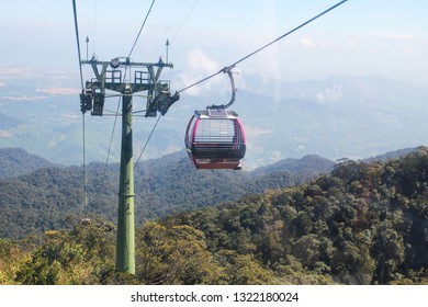Cable car to Ba Na Hills Mountain Resort in Da Nang ,Vietnam.