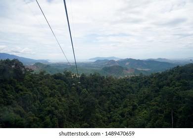 Cable car Ba Na Hills view Danang, Vietnam