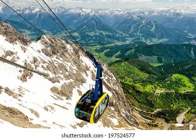 Cable car to Dachstein Glacier in Austria