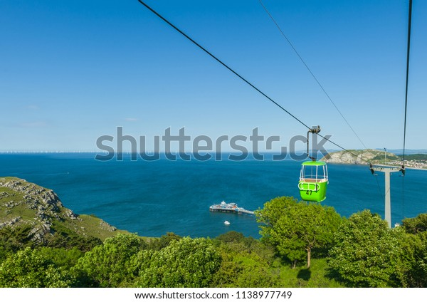 Cable Car Drifts Over Great Orme Stock Photo (Edit Now