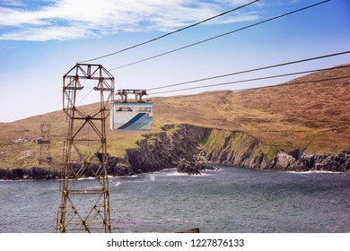 Cable car in Dursey Island. County Cork, Ireland.