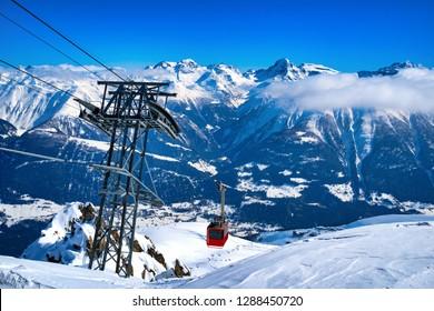 Cable Car at Eggishorn, Aletsch Glacier, Switzerland