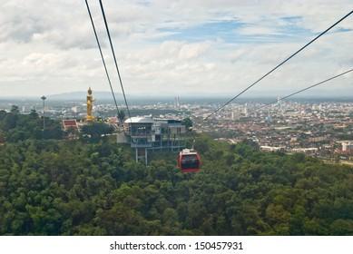 Cable Car at Hatyai Park , Hat Yai , Thailand