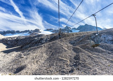 The cable car to Marmolada, Dolomites, Italy, Europe