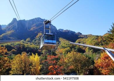 cable car at Mt Seoraksan, Korea