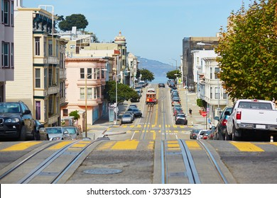 Cable car in San Francisco, California, USA