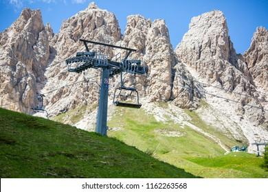 Cable car service in Bolzano Italy view