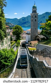 Cable car serview in Lugano Switzerland view