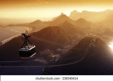cable car to the Sugarloaf, rio de Janeiro, Brazil