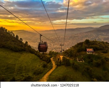 Cable car that goes from Sarajevo to Trebevic.