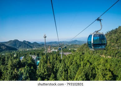 Cable Car way to mountains in Taiwan